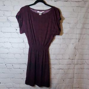 Max Studio Burgundy & Black Dress